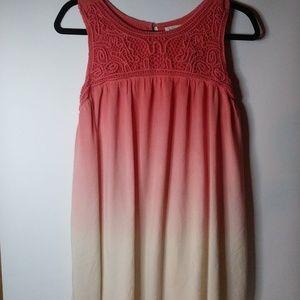 Indigo Soul Coral Ombre Tunic Dress Sz. Med